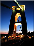 ST5673 : Clifton Suspension Bridge at night by Duncan Grey