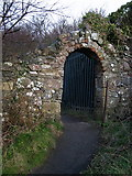 J4482 : Old entrance gate, Seahill by Rossographer