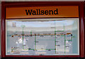 NZ3066 : Hadrian's Wall map, Wallsend Metro station by Keith Edkins