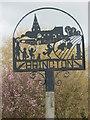 TL0875 : Village sign, Brington by Michael Trolove