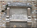 TL4551 : Little Shelford church, memorial tablet by Keith Edkins