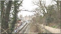 SH4862 : Caernarfon Welsh Highland Railway Station from Love Lane by Eric Jones