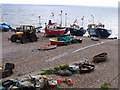 SY2389 : Fishing Boats, Beer, Devon by Doug Elliot