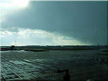 TL5523 : Snowstorm passing Stansted Airport by Thomas Nugent