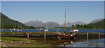 NN0958 : Old Pier, Loch Leven by Dorothy Carse