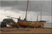 TR3752 : Fishing Boats on Deal Beach, Kent by John Mavin