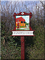 TL4848 : Pampisford (west end) Village Sign by Keith Edkins