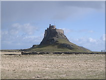NU1341 : First view of Lindisfarne Castle by Nick Mutton