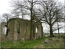 TM1685 : Tivetshall St. Mary church ruin 4 by Jonathan Billinger
