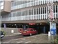 TL4557 : Queen Anne car park entrance by Sandy B