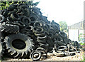 ST7061 : 2008 : The Inglesbatch Farm tyre repository by Maurice Pullin