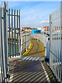 TQ2404 : Footbridge over Lock by Simon Carey
