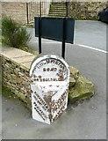SE1407 : Milestone, Dunford Road, Holmfirth (Wooldale) by Humphrey Bolton