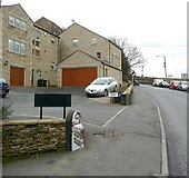 SE1407 : Milestone and Attorney Court, Dunford Road, Holmfirth (Wooldale) by Humphrey Bolton