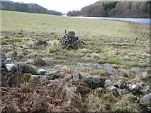 NN8759 : Cairn beside Loch Tummel by Russel Wills