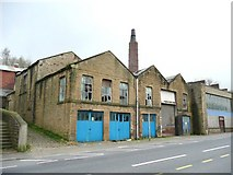 SE0914 : Derelict dyeworks, Manchester Road, Linthwaite by Humphrey Bolton