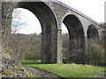 SK1871 : Monsal Head Viaduct viewed from Footpath by Alan Heardman