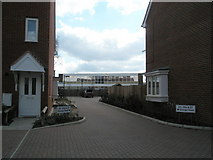 SU7422 : View between houses in Grange Road through to The Petersfield School by Basher Eyre