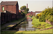 SD7807 : Manchester Bolton and Bury Canal:  looking south from Water Street bridge, Radcliffe by Dr Neil Clifton