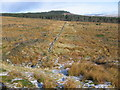 NS7281 : Line of the path to Carron Valley by Chris Wimbush