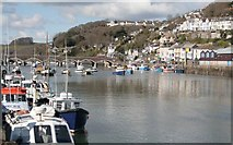 SX2553 : Fishing Boats tied up at West Looe Quay by roger geach