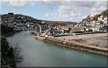 SX2553 : West and East Looe with the river  from Hannafore road by roger geach