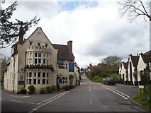 TR0753 : The Woolpack Inn on the corner of The Street and Hambrook Lane by pam fray