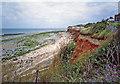 TF6741 : Cliffs at Hunstanton, Norfolk by Christine Matthews