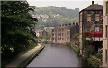 SD9926 : Hebden Bridge: Rochdale Canal: from Station Road Bridge 16 by Dr Neil Clifton