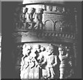 SE9264 : Detail of the Waggoners Memorial Sledmere by N T Stobbs