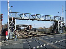 TA2609 : Footbridge at Wellowgate Level Crossing by David Wright