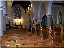 SO8480 : St. Peter's Cookley, interior. by Annette Randle