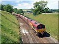 NY7407 : A Coal train heads south nr Smardale on a hot July afternoon. by roger geach