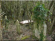 ST1897 : Penmain Chapel yard by Robin Drayton