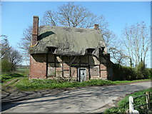 SP2050 : Derelict thatched cottage by Jonathan Billinger