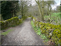 SK2468 : Footpath leaving Calton Houses by Alan Heardman