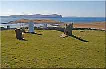 NG2261 : Trumpan graveyard by John Allan