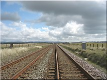 SH3175 : Railway south of Trewin Sands crossing by Eric Jones
