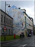SH4862 : Mural, Caernarfon by Eirian Evans