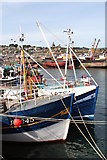 SW4628 : Fishing boats in Newlyn Harbour by Rod Allday