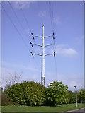 TL4661 : Pylon, Cambridge Science Park by Keith Edkins