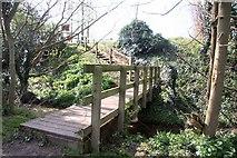 TL8663 : Footbridge to the Haberden by Bob Jones