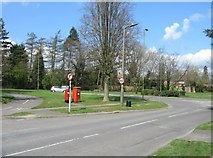 SU6350 : Two post boxes - Golden Lion roundabout by Given Up