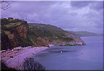 SX9265 : Oddicombe Beach from Babbacombe Downs, Devon taken 1964 by William Matthews