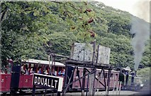 SH6742 : Dduallt station by John Firth