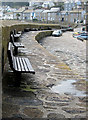 SW4626 : Harbour wall, Mousehole by Pauline E