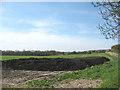 TQ8455 : Pile of sludge, Hollingbourne by Stephen Craven