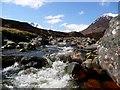 NH1925 : Rapids on the Abhainn Gleann nam Fiadh by Gordon Brown