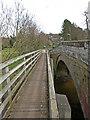 NU0302 : Footbridge over the Wreigh Burn, Thropton by wfmillar