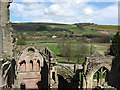 NT5434 : The ruins of Melrose Abbey by Walter Baxter